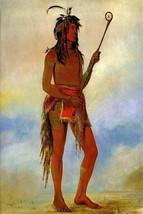 Stickball Player Tribe Menomenee Minnesota Indian Game By George Catlin Repro - $10.96+