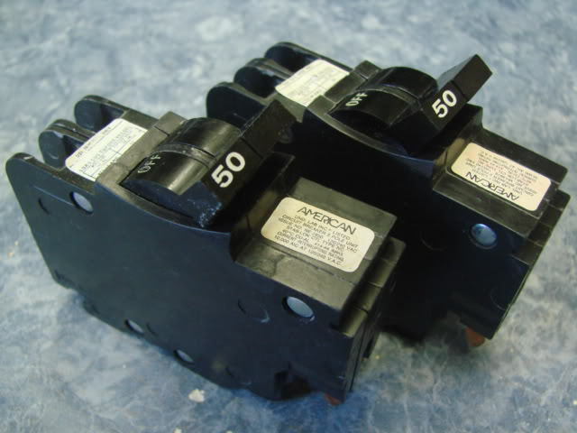 "50 Amp 2 Pole FEDERAL PACIFIC FPE Stab-Lok 2/"" Wide NA 220-240V BREAKER NICE!"