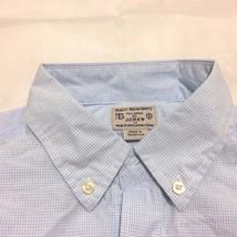 J.Crew Plaid shirt front buttons cotton Men Sz S Blue and white  / NWOT - $16.82