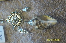 # purse jewelry silver color  shell keychain backpack filigree dangle charm #27 image 1