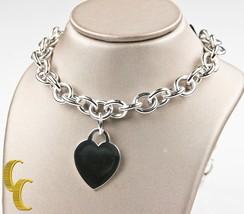Tiffany & Co.Argent Sterling Vierge Coeur Link Necklace 40.6cm Magnifique Cadeau - $334.13