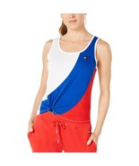 Tommy Hilfiger Sport Knotted Colorblock Tank - $31.20