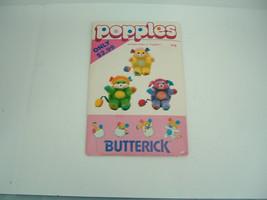 vintage 80s  butterick uncut  sewing pattern 416 popples  stuffed plush ... - $17.82