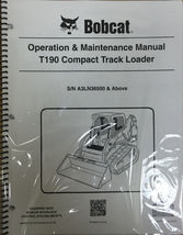 Bobcat T190 Track Loader Operation & Maintenance Manual Owner's Book 7 # 6989619 - $23.00+