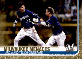 Milwaukee Menaces 2019 Topps Series 2 Gold Parallel Card #625 1585/2019 - $2.00