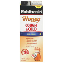 ROBITUSSIN Honey Night Time Cough & Cold Syrup 115ml From CANADA LIMIT OF 2 - $16.88