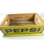 Nice Vintage Pepsi Wood Crate Case, Yellow w/Blue Type, A.W.P. Cases - £37.73 GBP