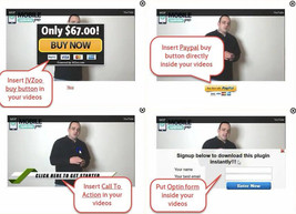 Insert Email Opt in form on your Youtube Video Software wp plugin on CD - $7.00