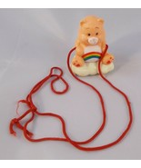 """Care Bears Cheer Bear Necklace Figure toy 2.25"""" 1983 - $5.95"""