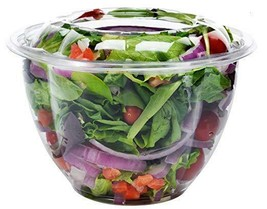 Clear Plastic Bowl With Dome Lids for Salads Fruits Parfaits, 48oz,...  - $28.70