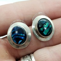 1988 RAINSTAR USA Sterling Silver 925 Abalone Stud Earrings FREE Shipping - $39.99