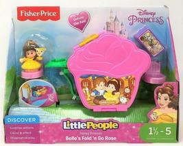 Little People Disney Princess Belle Fold & Go Rose Spielset Spielzeug - $21.85