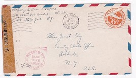 WORLD WAR II EXAMINED MAIL APO 256 US ARMY 1944 - $2.98