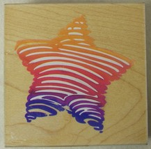 Star & Stripes Rubber Stamp Bold Star Stripe Q011 1995 - $2.59