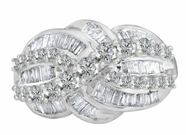 Certified 3.52 Cttw Natural Diamond Cluster Ring 14k Solid White Gold - $2,375.01
