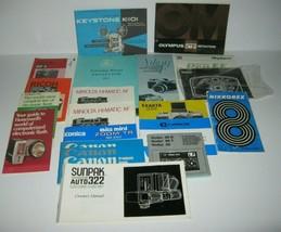 Vintage Camera Manuals Guides Ads Brochures Kodak Canon Rollei Vivitar L... - $28.01