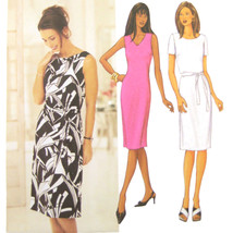 Butterick Sewing Pattern 3373 Misses Sheath Dress Oval V-Neck Easy 18 20... - $6.95