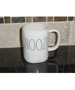 Rae Dunn SNOOZE Rustic Mug, Ivory with Black Letters, New! - $13.00