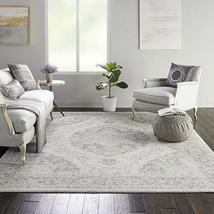 Nourison Tranquil Persian Vintage Ivory/Grey Area Rug 8' X 10 - $160.00