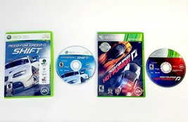 Need For Speed Shift and Hot Pursuit (Microsoft Xbox 360) Racing Game Lot Bundle - $16.10