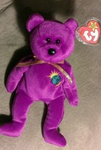 TY Beanie Baby MILLENIUM ERROR MILLENNIUM 2000  STUFFED ANIMAL Retired b... - $19.79