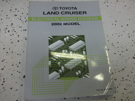 2002 Toyota Land Cruiser Elettrico Cablaggio Diagramma Manuale Ewd Etm OEM - $69.15
