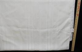 Tablecloth White Hoffman Estates Polyester Satin Look Horizontal Stripes... - $9.85