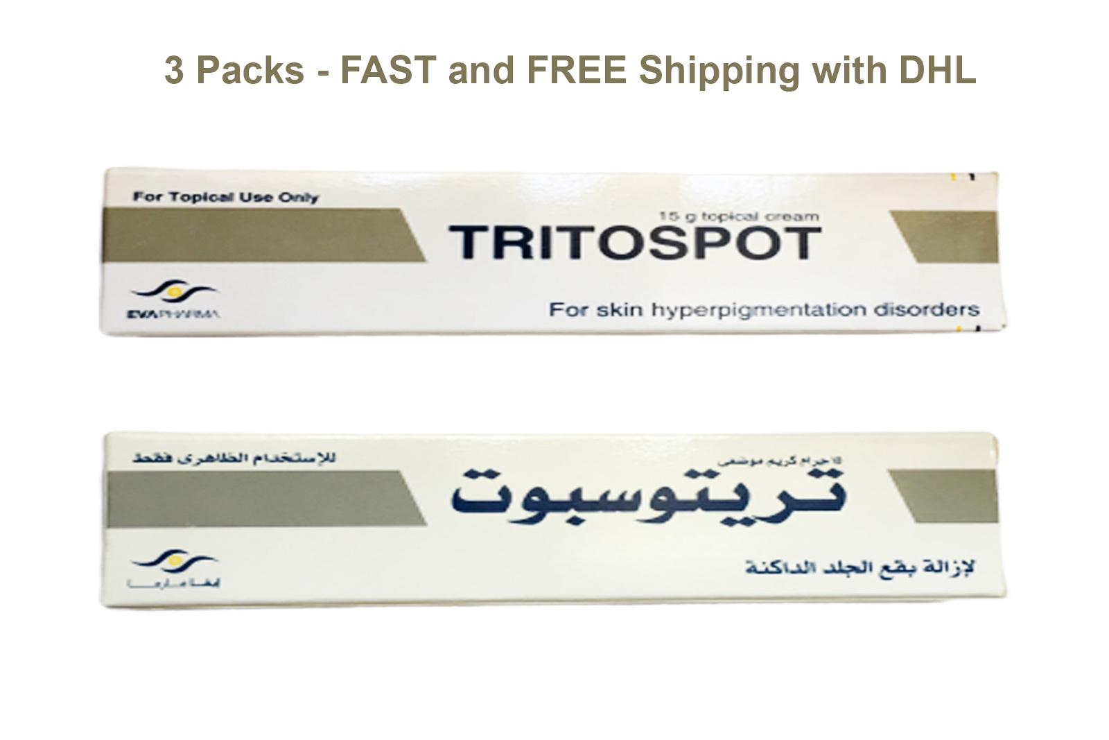3 packs tritospot cream whitening cream for skin hyperpigmentation problems 1