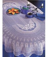 Oval Wonder Shooting Star Antique Lace Tablecloth Runner Doilies Crochet... - $9.99