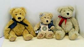 Lof of 3 Vintage Boyds Bears Plush Stuffed Toys Archive &  J.B Bean Seri... - $19.09