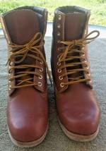 RANGER ~ Brown Vegan Leather FELT SOLE FISHING BOOTS ~ Men's Size 10 M - $59.39