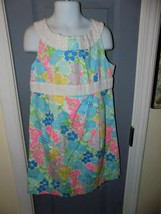 LILLY PULITZER SPRING FLING MINI HENLEY DRESS SIZE 8 GIRL'S EUC HTF - $46.80