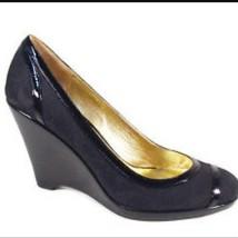 Coach Women's Shoes Kerryann Black Logo Platforms Wedges Shoes Size 8 - $74.75