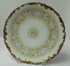 T & V Limoges France Hand Painted Scalloped Cab... - $65.33