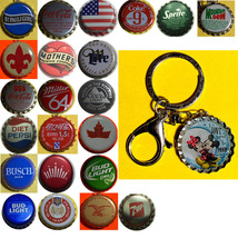 Mickey Minnie Mouse Coke Sprite Diet pepsi & more Soda beer cap Keychain