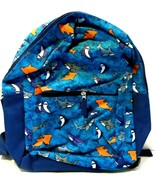"Children's 13"" Backpack Blue with Shark Print See Photos! - $7.07"