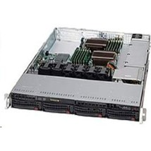 SuperMicro Superchassis 600W 1U RackMount Server Chassis Black CSE-815TQ... - $383.58