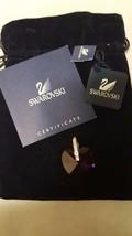 Swarovski Crystal Heart PENDANT Reversible Pink & Blue Original TAG - $25.64