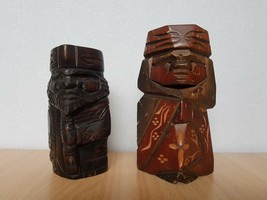 Vintage Japan Made 1 Pair Hokkaido Ainu Kokeshi dolls (15-18 cm) - $33.77
