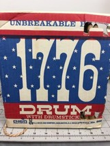 Chein Playthings Toy Drum No. 268 1971 J. Chain & Company 1776 Bicentennial - $123.74