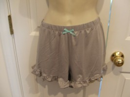 Pj Couture gray ruffled Hem Pajama Bottoms Shorts  Sleepwear size jr. large - $11.88