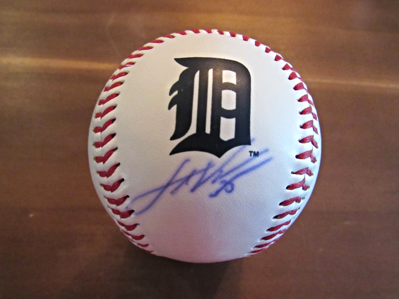 Primary image for JUSTIN VERLANDER 2017 WSC ASTROS TIGERS SIGNED AUTO LOGO BASEBALL CAC COA