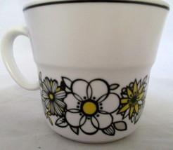 Noritake Progression 9029 Coffee Cup Tressa Pattern Excellent Daisies Daisy  - $14.84
