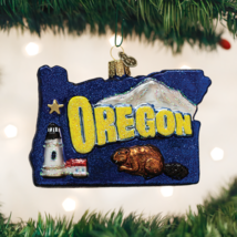 OLD WORLD CHRISTMAS STATE OF OREGON BEAVER STATE GLASS CHRISTMAS ORNAMEN... - $16.88