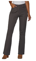 Isaac Mizrahi Live! Tall 24/7 Stretch Boot Cut Fly Front Pants, Size 2T,... - $24.74
