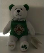 Irish Spirit Bear Holy Bears Plush 2003 w/ Tag Green & White - $10.88