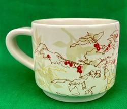2009 Starbucks Coffee Tea Cup Mug White Red Berries Holiday Christmas 10... - $6.62