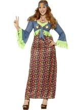 Curves Hippie Lady Costume, XL, 1960s 70s Fancy Dress, Womens, US 16-18 #US - $51.95