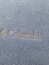 Columbia Mens M Dusty Blue Hiking Camp Lightweight Zip Front Fleece Jacket image 9