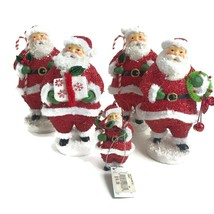 5 Seasons of Cannon Falls Santa Claus Figurines Ornament Hallmark Holida... - $41.68